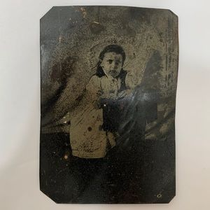 Other - Antique Victorian Girl Child Bonnet Tintype Photo